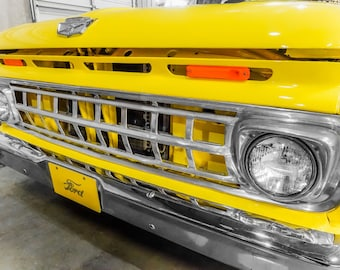 1964 Ford F100 Pickup Truck Photography, Automotive, Auto Dealer, Classic Car, Mechanic, Boys Room, Garage, Dealership Art