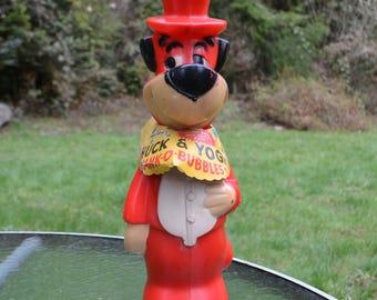 """15"""" Vintage Huckleberry Hound """"Huck & Yogi Bank-O-Bubbles"""""""