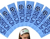 Bulk Discounted Soccer TEAM Headbands with Personalized Monogrammed EMBROIDERED Name  -  Choose Your CUSTOM Colors