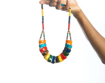 African jewelry beaded necklace