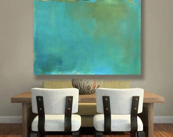 Best Selling Item, Ready to Hang Abstract Landscape Canvas Print, Pantone 2017, Modern Minimalism, Vermont Art, Mountains, Pantone Greenery