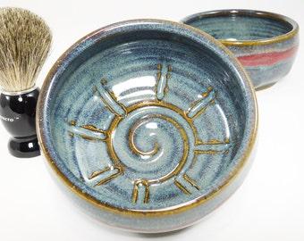 Shaving Soap Dish - Wetshave Dish - Pottery Shaving Dish - Bowl For Shaving - Shaving Cup - Pottery Shave Dish - In Stock