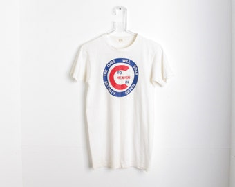 RARE Vintage Chicago Cubs 'Soar to Heaven in Seventy Seven' Logo T-Shirt
