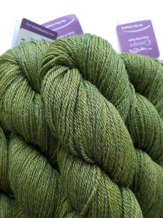 The Fibre Company Canopy Fingering - Conifer - Green Forest Hunter Light Fingering Weight Kettle Dyed Alpaca Merino Bamboo Yarn