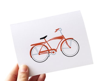 bicycle note cards, bike gift, bike thank you cards, bike gifts, bicycle gifts, note cards, note card set, note card stationery, stationary