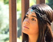 ISILME Moonlight Circlet - Celtic Elven Medieval Renaissance Hand Crafted Choose Your Own COLOR Crown Tiara Bridal Wedding Hairpiece Cosplay