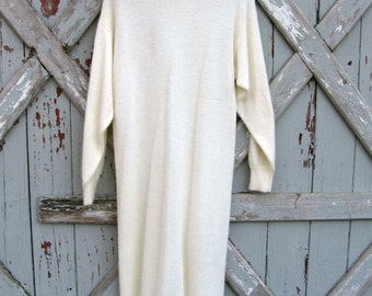 vintage 1980s Angenie cream sweater dress M L XL
