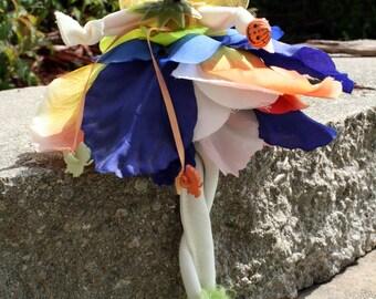 Flower Fairy Art Doll, Fairy Woodland Doll, Brides Maid Wedding Favor, Pixie, Christmas Fairy