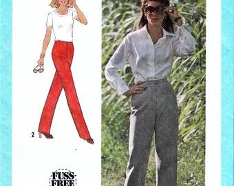 Vintage Sewing Patterns 1970s Misses Pants Pattern 70's Straight Leg Pattern Ladies Slacks Front Zipper Simplicity 9040 Size Small Uncut