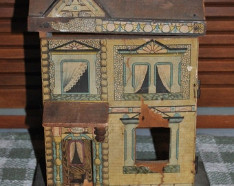 Antique Bliss Dollhouse 2 Story The Flower House No. 570