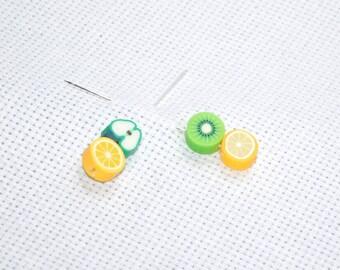 Counting pins, Fruit Pin, Cross stitch Accessory, NeedleCraft Tool, Stick Pin