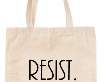 RESIST. | Activism | Protest | Resistance  Canvas Tote Bag