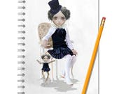 Puppet Notebook - Puppet Master & Marionette  - LINED OR BLANK pages, You Choose
