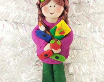Preschool Teacher Gift - Kindergarten Teacher Gift - Preschool Christmas Ornament - Babysitter Christmas Ornament - Nanny Ornament -  516