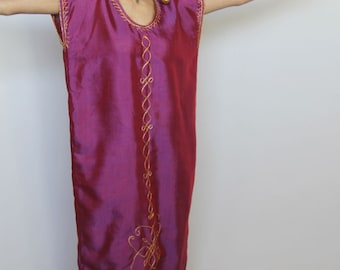 moroccan morning  -- vintage 70's dramatic ornate caftan dress Size S/M/L