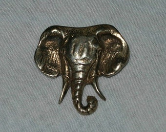 Vintage Sterling Silver Elephant - Brooch or Pin