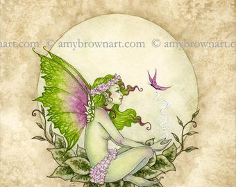 Earth Elemental Fairy 8X10 PRINT by Amy Brown