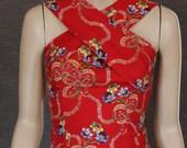 Fabulous 50's Retro COCKTAIL Wiggle Dress / 1950s pattern / pinup / madmen / handmade / cotton / retro design / designer / OOAK