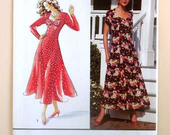 Ladies' Dresses with Sweetheart Neckline - Simplicity 8245 - Vintage Sewing Pattern, Sizes 12, 14, and 16
