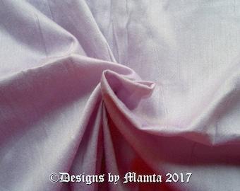 Pastel Lilac Purple Dupioni Silk Fabric By The Yard, Indian Fabric, Art Silk Fabric, Curtain Drapery Material, Wedding Gown Dress Material
