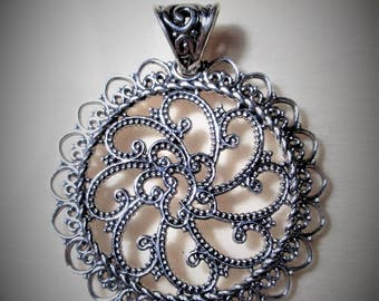 Sterling Silver Pendant - Whimsical Waves