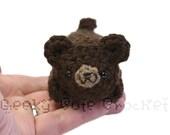 Brown Bear Yami Amigurumi Plush Toy Crochet Stuffed Animal