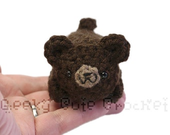 Brown Bear Yami Amigurumi Crochet Stuffed Plush Desk Toy