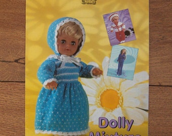 1999 Knitting patterns Dolly Mixture DOLL CLOTHES baby dolls and fashion dolls