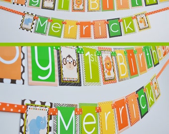 Jungle Birthday Party Banner | Safari Birthday Party Banner | Jungle Decorations | Fully Assembled | Jungle Banner | Jungle Theme Party