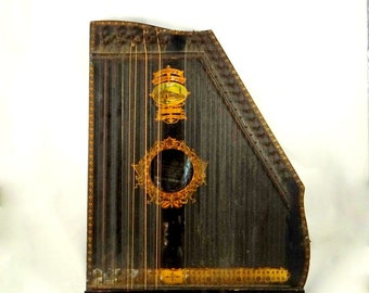 Antique Mandolin Harp from 1900 by Oscar Schmidt St. Louis Style B Model