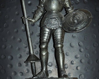 Vtg Knight on a Shield Wall Hanging 11 x 15