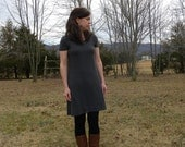 Womens Jersey Knit Cotton Short Sleeve Dress Handmade in the USA - Made to Order - Basics