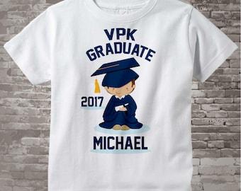 Personalized VPK Graduate Shirt Voluntary Pre-K Graduation Shirt Child's Back To School Shirt 05072014d