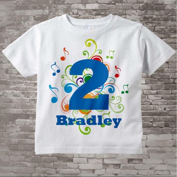 Birthday Boy Shirt Music Themed 2nd Birthday Shirt