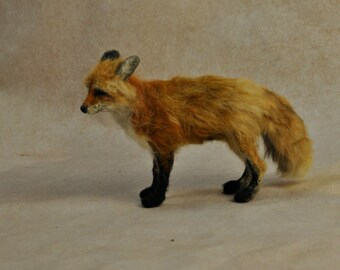Needle Felted  Animals. Felted fox. Needle felted fox.