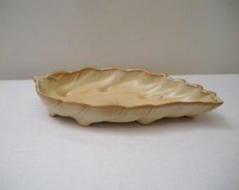 Vintage Frankoma Leaf Dish