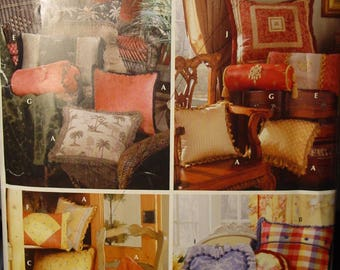 Sewing Pattern Fancy Throw Pillows Various Shapes Simplicity 0740