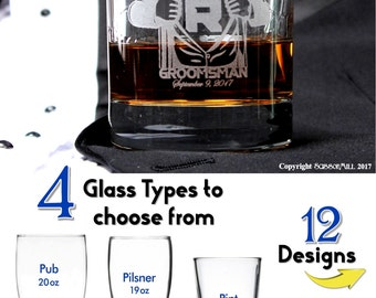 Father of the Groom Officiant Gift Wedding Reception Glasses Gifts for the Groom Personalized Groomsmen Whiskey Glasses