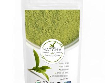 Culinary Matcha (453g) - Organic, Kosher & Non-GMO Certified, Vegan and Gluten-Free, FREE 1-3 Day USA Shipping