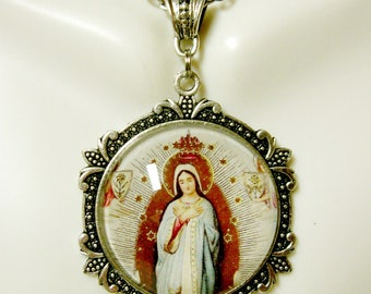Immaculate conception pendant and chain - AP25-055