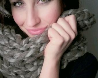 Alpaca Cowl Hand Knit ***READY TO SHIP***