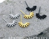Nickel Free - High Quality Stainless Steel Stud Earring Post with Ear Studs Back Stopper (SEP017)