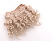 Hand dyed Weft doll hair  mohair goat hair ash blonde for waldorf, Blythe natural Wool Doll Hair, Blythe Doll Reroots, tress, la Fiaba russa