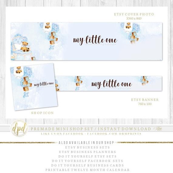 Premade DIY Etsy Mini Set | Blank Etsy Set | Premade Shop Set | Etsy Shop Graphics | Etsy Business Set | INSTANT DOWNLOAD-CR359