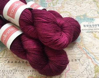 Tanami baby camel and silk 4ply yarn -  English Damson