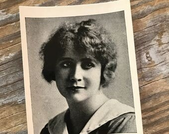 RARE 20s Hollywood Photo Souvenir Silent Movies Trading Card Egyptian Prettiest Cigarettes Bessie Barriscale Collectible Ad