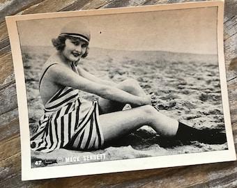 RARE 1920s Bathing Beauty Famed Director Photographer Mack Sennett Promo Souvenir Trading Card EGYPTIAN PRETTIEST Cigarette Memorabilia