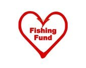 Fishing Fund - Jar Decal - Vinyl Letters, Signage, Fishing Jar Sign, Fishing Decal, Fishing Gift