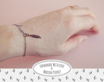 Feather Bracelet - Blue