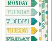 Sticky Tabs - Now and Then, This Week - Use In Planner, Erin Condren, Filofax, Travelers Notebook, Happy Planner, Note Pad, Days of the Week